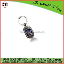 Quality Free Artwork Custom Silver Metal London Flipping Crown Souvenir Key Ring Key Chain