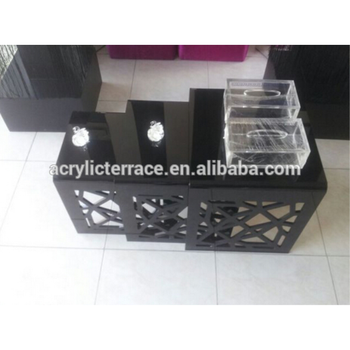 Black acrylic nesting table set of 3 with laser pattern on sides black acrylic nesting table set of 3 with laser pattern on sides watchthetrailerfo