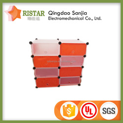 cheap assembled plastic storage box with open front adjustable plastic storage box