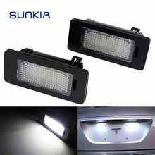SUNKIA LED License Plate Lamp for BMW E39/E60/E82/F30/F32/ with E-mark Certification Built-in Canbus Controlle