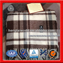 NO.1 China blanket factory 60% Wool 40% Acrylic Machine Washable Plaid