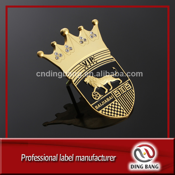 Fast Delivery Custom Made High Grade Car Club Use And 10Years Anniversary Gift Promotion Metal Souvenir Emblem
