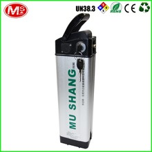 48V 10Ah LiFePO4 Rechargeable Electric Bike Silver Fish Battery Bicycle Lithium Battery Pack