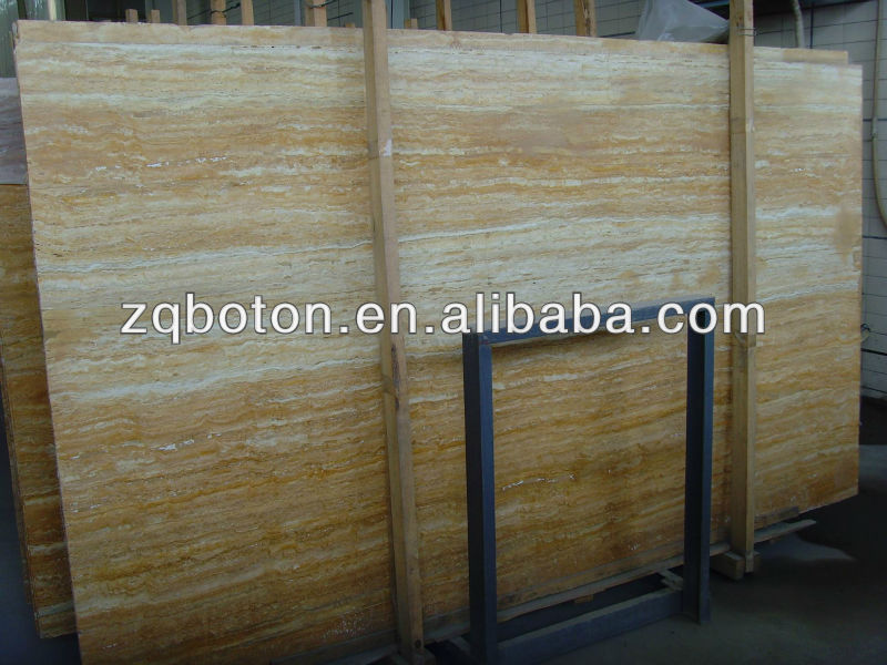 China manufacturer natural yellow travertine for building material use