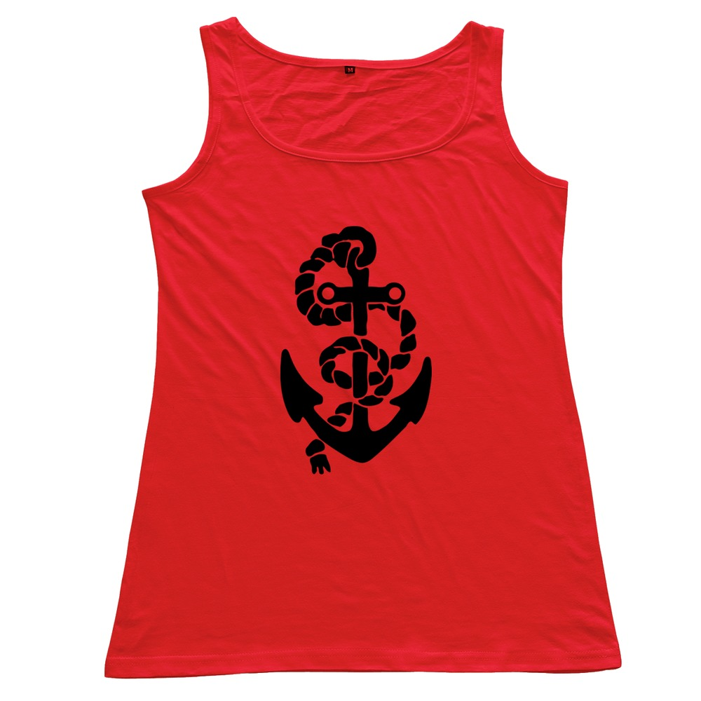 2015 New Coming Personality anchor 100 % Cotton Round Neck Tank for women Cheap Sale