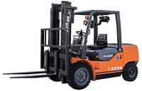 4 TON forklift bulk material handling equipment, wheel driving diesel