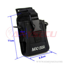 MSC-20A Two way radio Leather Case radio bag for Baofeng radios
