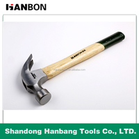 High Carbon Steel Claw Hammer with Wood Handle.