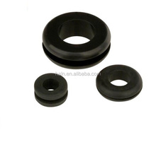 Custom molded rubber grommet for machine