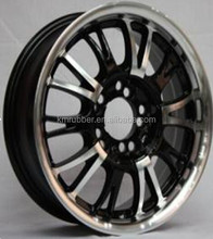 14 inch black car wheel rim of machined lip and surface