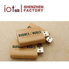 Low Price Wooden Book Shape USB 32gb Flash Drive 3.0 Engrave Logo Made in China