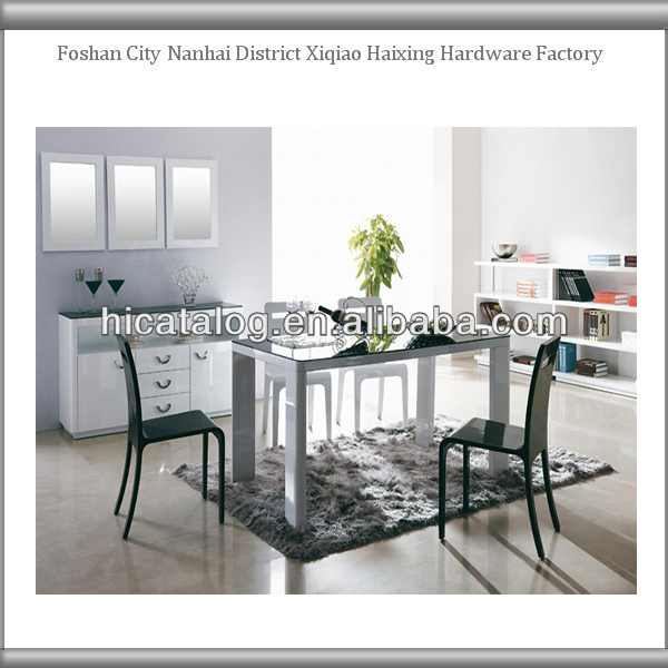 Luxury Modern European Style Simple Lines Laquer Dining Room Table Sets