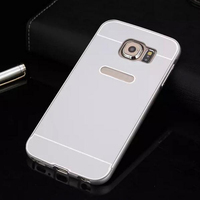 aluminum metal frame PC back cover 2 in 1 phone case for Samsung Galaxy S6