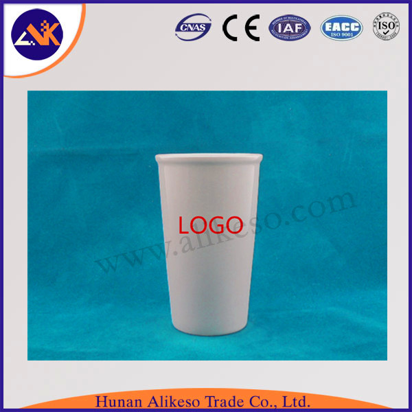 wholesale custom logo without handle white ceramic mugs