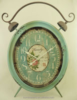 Retro French country style floor stand metal clock