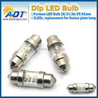 White LED Bulbs 31mm Festoon 2-SMD Car interior Dome Map Lights