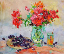 impressionist art palette knife flower painting designs for suits