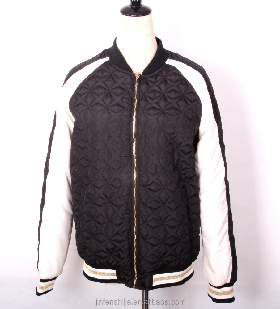 2017 fashion lady embroidery jacket quilted jacket women