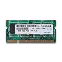 Apacer Notebook Memory DDR2-800 2GB SOD PC2-6400 CL5