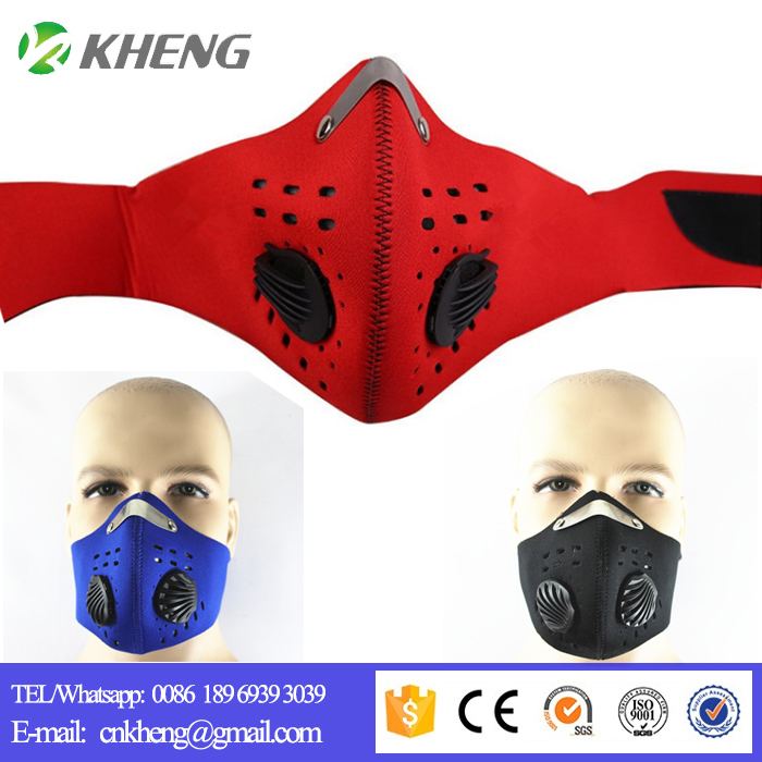 Active carbon filter face mask riding outdoor Anti-dus face protection warm windproof