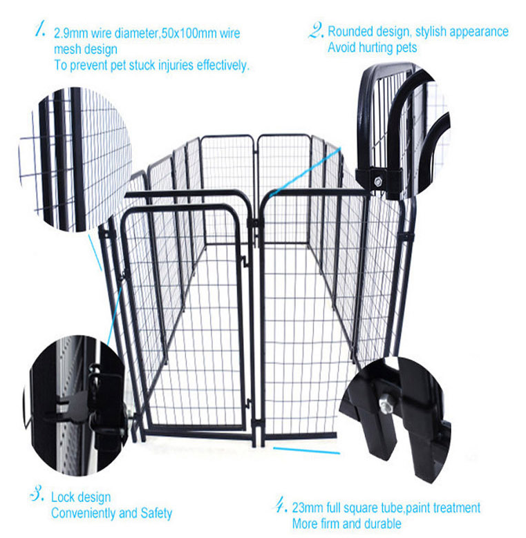 6ft*5ft or 6ft*10ft weld dog cage / commercial dog cage