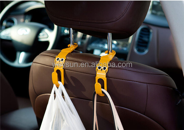 Multi Use Universal Car Back Seat Headrest Hanger Holder Hook for Bag Purse Cloth Grocery Storage,Auto Fastener, Clip