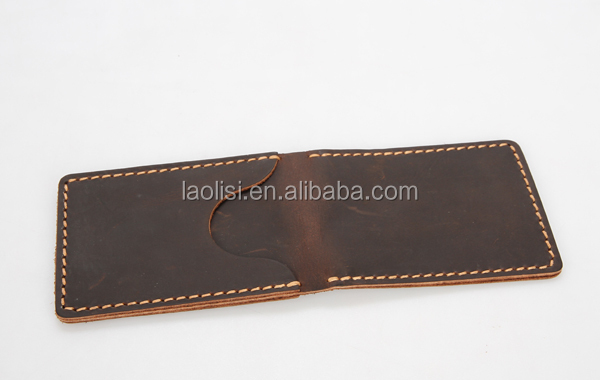 Vintage leather card holder made by crazy horse leather