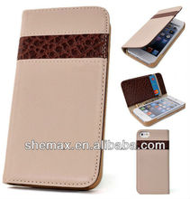 Stock Leather Case Cover Flip Protector Wallet For iphone 5G 5S