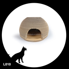 Natural Brown Color Cardboard Cat House