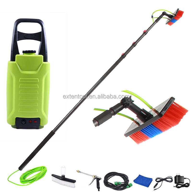 window cleaning water fed pole including soft brush durable carbon fiber extension pole telescopic pole
