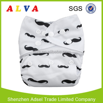 Alva Adjustable Ecological Diapers One Size Reusable Nappies