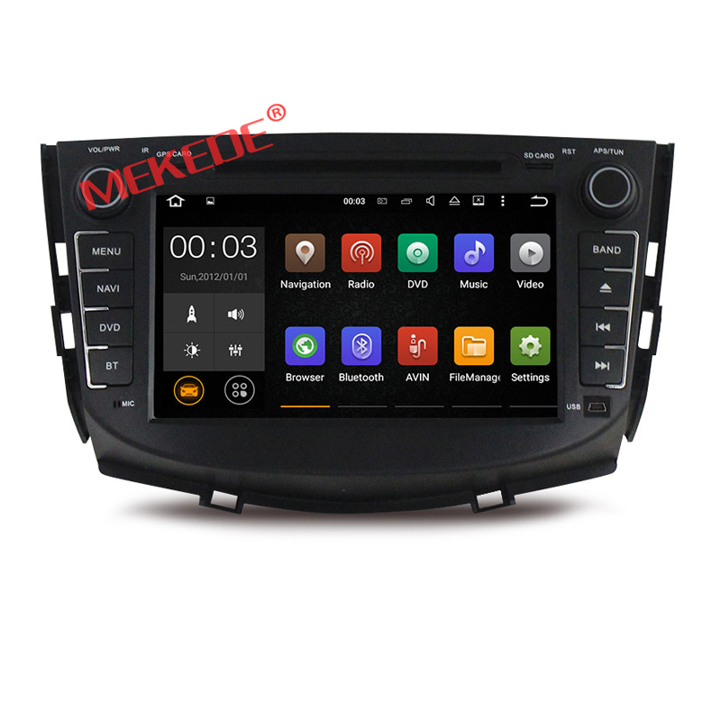 Built-up wifi car radio player for Lifan x60 with android 7.1 version quad core support 4G wifi