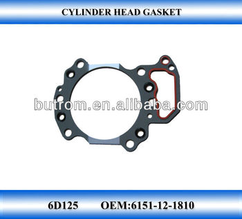 FOR gasket 6D125 Cylinder engine head gasket cylinder head gasket