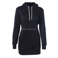 Autumn Hoodie Long Sleeve Slim College Style Women hoody Dress Letter Print Long Sweatshirts with Hooded Front Pocket sweatshirt