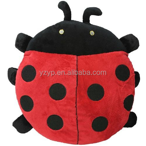 stuffed plush ladybug hand warmer toy back cushion throw pillow