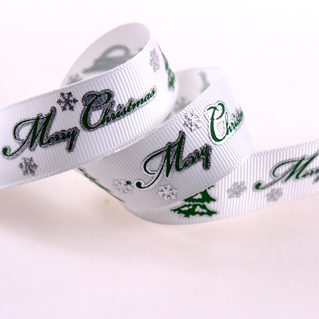 wholesale printed christmas celebrate grosgrain ribbon