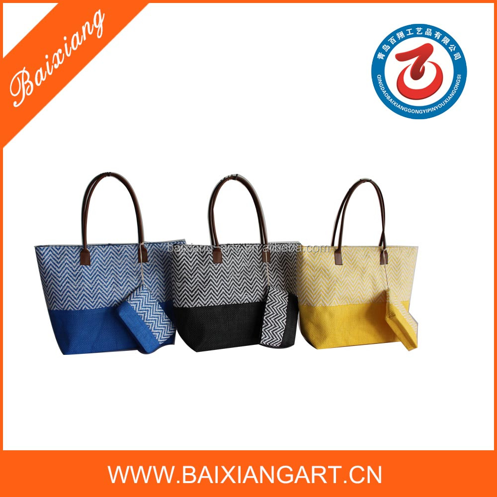 2016 Alibaba China manufacturer natural new style of paper straw bags