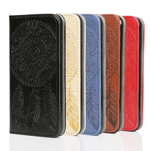 New products non-slip anti-scratch embossing Flip case design PU leather phone case for Xiaomi mobile phone