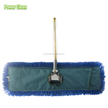 Heavy-duty microfiber Flat dust mop with aluminum alloy handle and Loop End Finish heads