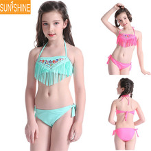 OEM High Quality Kids Bikini Nylon Girls Bikini Swimwear