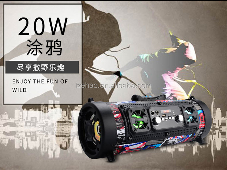 Hot selling sport outdoor subwoofer multi-function SD card portable bluetooth speaker support FM/TF