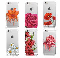 TOMOCOMO 2017 Victoria Rose Flower Floral Pattern Hot Pink Garden Soft TPU Phone Case Cover For iPhone 4 5 6 7 S Plus SE