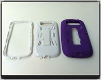 wholesale pc+silicone robot stand mobile phone cover case for samsung galaxy S3 case