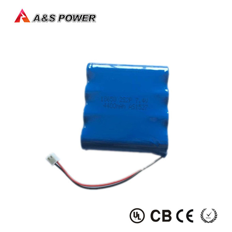 Rechargeable 7.4v 4400mah 18650 li-ion battery packs for Power bank