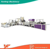 Fully Automatic HDPE Plastic Shopping Bag Cutting And Sealing Machine
