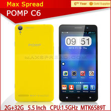 Pomp C6 1.5 GHz quad core-CPU MTK6589T 2g ram 32g rom 5.5 inch FHD screen 1920*1080 android cellphone