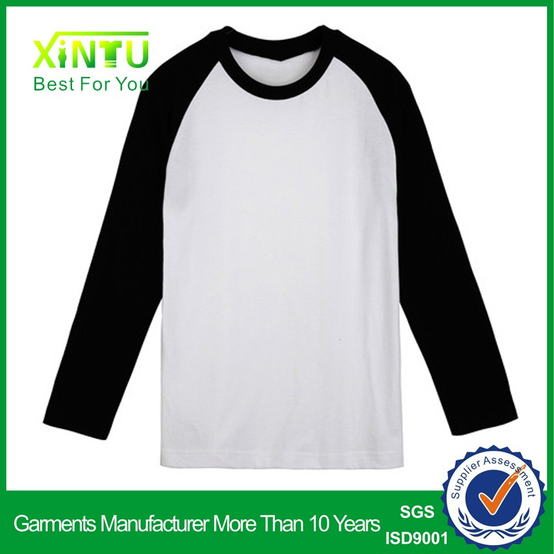 3/4 Sleeve T Shirt Design Your Own Logo on Raglan T Shirt/Baseball T Shirt