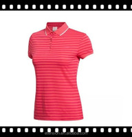 Yarn Dyed Striped Women Newest Style 2012 Ladies Fabric Polo Shirts