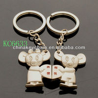 Resonance between two lovers lovely couple mice metal lovers keychain