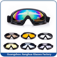 FDA Certificate single lens lightweight motorbike glasses with face foam